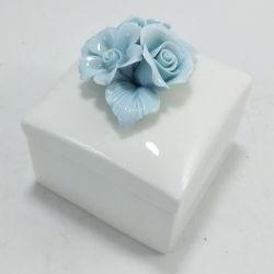 핸드메이드 선물 오거나이저 목걸이 용기 보관 케이스 세라믹 트린킷 비 보석 상자