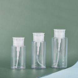 Removedor de maquillaje de plástico PET envases cosméticos de la botella de líquido de extracción de esmalte de uñas Botella de bombeo de prensa
