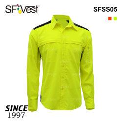 Ciao cioè uniforme respirabile di usura degli operai di obbligazione del PPE delle camice del lavoro di sicurezza