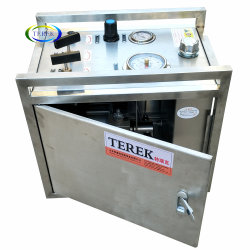 Marca Terek 10-60000 psi de presión alta líquido neumático bomba de cebado Hudraulic Equipos de prueba hidráulica