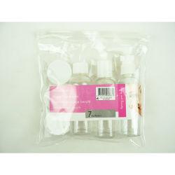 6PCS 플라스틱 여행용 바스와 PVC가 있는 미용 악세사리 세트 백