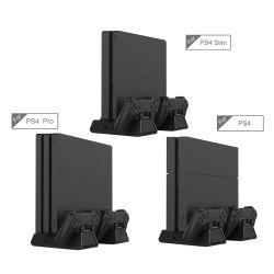 Conçu pour les fans de jeux PS4 de la série P4 / slim / pro position de refroidissement multifonctionnelle Inclure 12pcs Boîtier de jeu à double contrôleur de station de charge