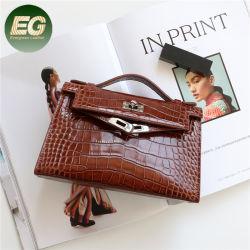 Emg6208 디자이너 핸드백 유명 브랜드 앨리게이터 럭셔리 레이디스 가죽 핸드 가방