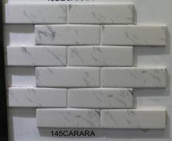 Het hete Marmer van de Strook van Inkjet Carrara van de Verkoop Witte kijkt het Mozaïek van het Porselein voor de Tegels van de Vloer van de Badkamers Backsplash