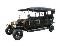 Elektrische Toerist die Retro Uitstekende Klassieke Auto bezienswaardigheden bezoeken