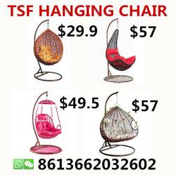 安い子供の屋外のテラスの柳細工の藤の卵の振動ハングの椅子