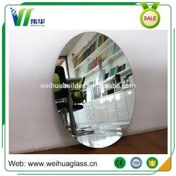 Espelho de banheiro decorativos de vidro oval com luz