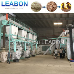 Leabon 직업적인 널리 이용되는 세륨 2000kg/H 생물 자원 목제 펠릿 기계