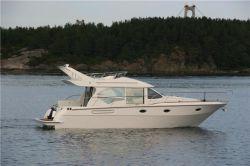 Barco de velocidade do motor diesel de plástico reforçado com fibra de vidro iate de luxo 42FT