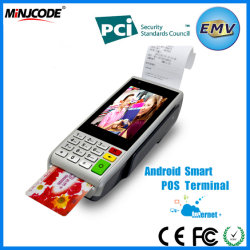 La mejor calidad de mano de la pantalla táctil Terminal POS, GPRS, WIFI, Bluetooth para el pago, Mj S1000.