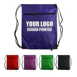 El logo impreso personalizado 210d Polyester Regalo Promocional Mochila Bolsa Drawstring
