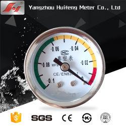 Bimetal marcar el agua caliente de canalización de medición de alta temperatura del termómetro Indicador de presión