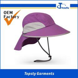 Custom Dry Fit mesh aéré de femmes de protection solaire longe Hat