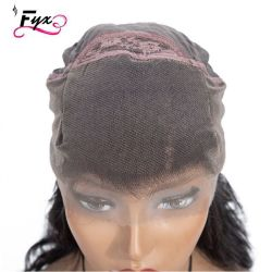 Cheveux humains indiens brute Remy Body dentelle péruvienne vierge d'onde perruque avant