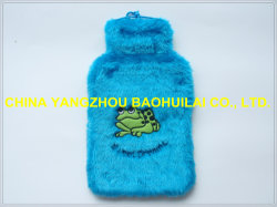 2L garrafa de água quente com logotipo de rã tampa de pelúcia