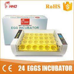 Nova Condição Hhd 220V 24 mini-incubadora de ovos de incubação dos ovos comerciais