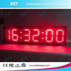 Двухсторонний красного цвета для использования внутри и вне помещений LED часы (ЧЧ: мм: SS)