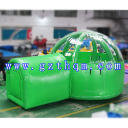 Гигантские надувные открытый кемпинг палатка, водонепроницаемый очистка потолочной надувной купол палатка, хорошее качество воздуха купол палатки