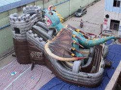 2019 Nouveau Parc Dragon gonflable bon marché Jumping Bouncer avec toboggan pour les enfants