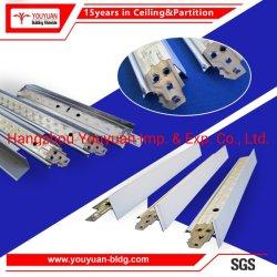 Acier galvanisé was/blanc plat suspendu au plafond en métal barre en T T de la grille pour le PVC /Plaques de plâtre en fibre minérale les dalles de plafond/système de panneau