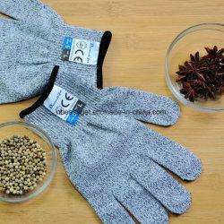 Tagliare la protezione resistente del Livello 5 del commestibile dei guanti, guanti dei tagli della cucina per l'ostrica che sguscia, il filetto di pesce che elabora, il mandolino che affetta, il taglio Esg10145 della carne