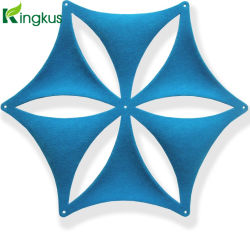 """Hexágono"" forma 3D con diferentes colores de fibra de poliéster panel acústico"