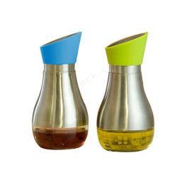 320ml de vidro plástico da garrafa de óleo de cozinha Leak-Proof molho de soja Vinagre Galheta dispensador de armazenamento
