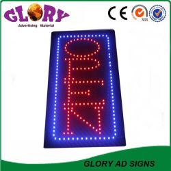 Vertikales LED geöffnetes Zeichen des lebhaften der Bewegungs-LED Geschäfts-