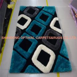 3D de la conception populaire Shaggy tapis touffetés à la main en polyester