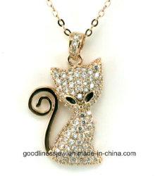 Hot Salts and Lovely Fox Necklace Pet Jewelry Gold Plated Rhinestone Fashion Jewelry Trendy Animal During Necklace for Women N6601