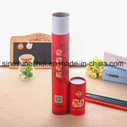 Produtos cosméticos de papelão da embalagem de papel personalizado Batom unhas e recipiente de caneta na caixa do tubo para o bálsamo para lábios