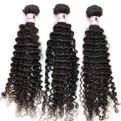 человеческие волосы 100% 12inch Kinky Curl Virgin индийские Weft