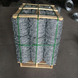 Barato revestido de PVC médios militar galvanizados a quente de Arame farpado de peso a granel