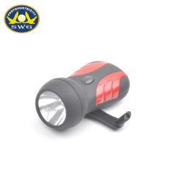 Usine de Ningbo produire la meilleure qualité de 0,5W part Crank Dynamo Lampe de poche