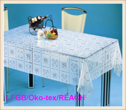 Serviette de table / linge de table transparent PVC Print Transparent