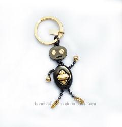 Keychain in Black mit Polish Gold Finishing