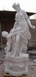 Statue de marbre blanc figure de pierre à sculpter de jardin