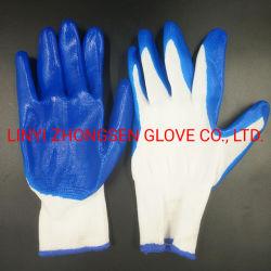 Fios branco Luvas Cyano-Nitrile DIP Palm Slip - Resistente, Desgaste - Resistente à prova de petróleo - Luvas de DIP em nylon