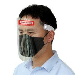 Distributeur de pulvérisation Anti-Fog et feuilles en PET transparent de protection en plastique de protection du visage masque