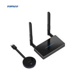 Topleo Wireless WiFi Display Dongle (وحدة حماية شاشة WiFi اللاسلكية) جهاز إرسال لاسلكي بعيد المدى Miracast AirPlay
