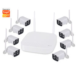 Venta caliente Home WiFi/Kit de seguridad de la cámara inalámbrica 8CH de la cámara 1080p Tuya cámara CCTV Cámaras IP Kit de NVR