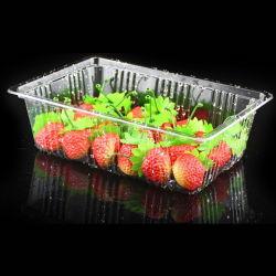 투명한 과일 플라스틱 포장 용기 플라스틱 포장 체리 토마토 및 주황색 클램쉘 디스플레이 트레이