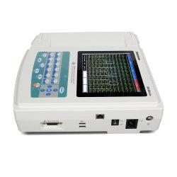 Contec ECG1200g 12 Channel Portable EKG Machine Electrocardiografo 터치 스크린 및 기능 키