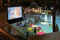 شاشة تلفزيون قابلة للانتفاخ للوسائد الهوائية الجانبية (PVC) مقاس 0,6 مم مقاومة للماء 24 قدمًا في الخارج حزب الماء