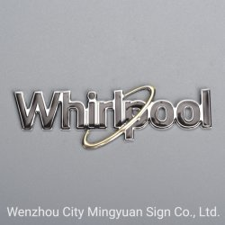 로고 스티커 (소용돌이) 기장 명찰을 인쇄하는 금속 로고를 인쇄하는 주문 레이블
