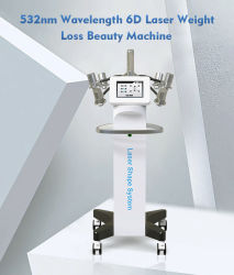 Nuovo prodotto laser a luce verde 6D 532nm con sistema laser Lipo Apparecchiatura di dimagrimento per perdita di peso