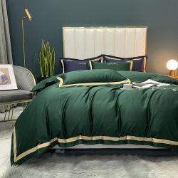 デラックスなホーム織物のスリープは100%の絹のホテルのリネン緑3PCSを冷却する