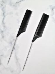 살롱은 간단한 모발 관리 플라스틱 정밀한 이 금속 쥐꼬리 빗을 개인화한다
