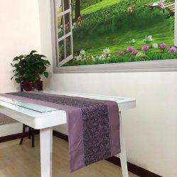 コットンクローシェテーブルランナー 60X300cm 手編みテーブルフラッグテーブル クロスエクルー & ホワイトテーブルランナー