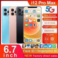 Smartphone grossista para I12 Pro Max duplo SIM telemóvel 4G telefone celular da marca